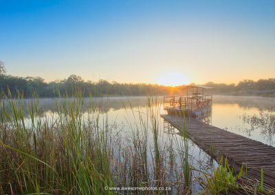 Tzaneen Country Lodge sunrise over dam