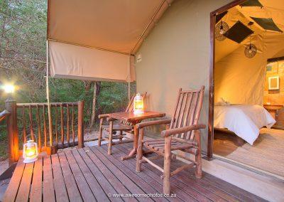 Kruger Adventure Lodge view of safari tents