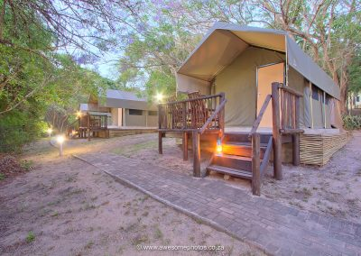 Kruger Adventure Lodge furnished safari tents