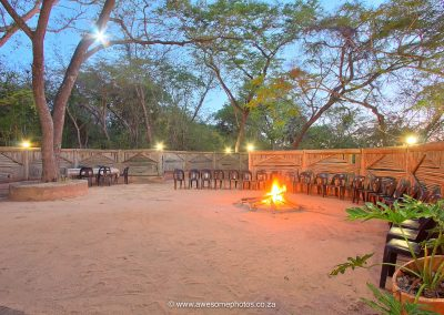 Kruger Adventure Lodge outside boma dinner