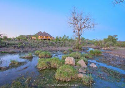 Karula Lodge Klaserie waterhole at the lodge