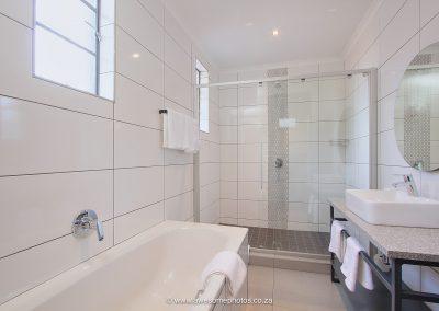 The Pretoria Hotel bathroom with shower