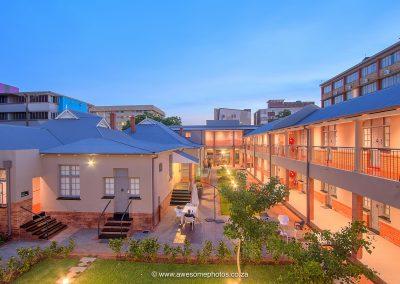 The Pretoria Hotel outside garden