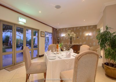 The Syrene Hotel Dinning area for hotel guests